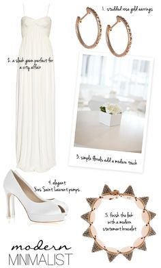 The Modern Minimalist Bridal style from NET-A-PORTER