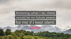 No future of we keep silent