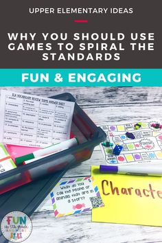 Use games in the classroom to effectively spiral the standards and engage your students! Are you curious about how to use spiral learning in your classroom? Check out this blog post learn what spiral learning is and why it's important to use in your classroom. Find some games to make sprialing interactive and effective in your upper elementary classroom!  Fun review activities that are engaging!! Help Teaching, Teaching Ideas, Spiral Math, Review Games, Early Finishers, Math Concepts, Close Reading, Classroom Fun, Learning Environments