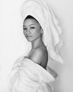 """pigmentmagazine: """"zendaya for mario testino's towel series july 2017 """""""