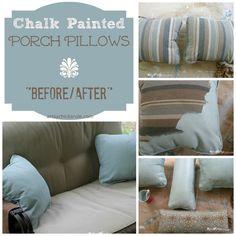 SO Easy! Don't love it? Paint it with Annie Sloan Chalk Paint! artsychicksrule.com #paintedupholstery #chalkpainted #chalk paint #paintingupholstery