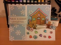 """Christmas card i made using the Lawn Fawn stamp set """"Sweet Christmas"""""""