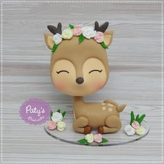 Clay Projects, Clay Crafts, Projects For Kids, 1st Birthday Cake For Girls, Baby Birthday Cakes, Paper Crafts For Kids, Fun Crafts, Fimo Kawaii, Little Girl Cakes