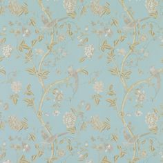 Love this wall paper for a girls room :)