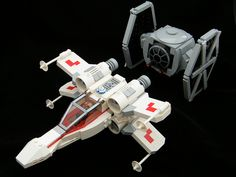 Chibi X-Wing and TIE Fighter by DarthNick, via Flickr