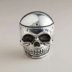 Forget the Time Timer.maybe the Skull Timer will be more effective. Skull Decor, Skull Art, Metal Skull, Goth Home, Kitchen Timers, Gothic House, Gothic Mansion, Gothic Home Decor, Home And Deco