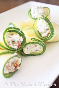 Ricotta Stuffed Zucchini Rolls