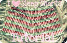 Sleep Shorts Sewing Tutorial