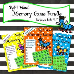 Sight word match game BUNDLE featuring lists 4-6. Three games to review with the whole class or play in small groups! The bright, colorful graphics appeal to the littlest learners. My students absolutely love playing memory games on the Whiteboard. This game is a fun and easy way to incorporate technology into your classroom while reviewing sight words.