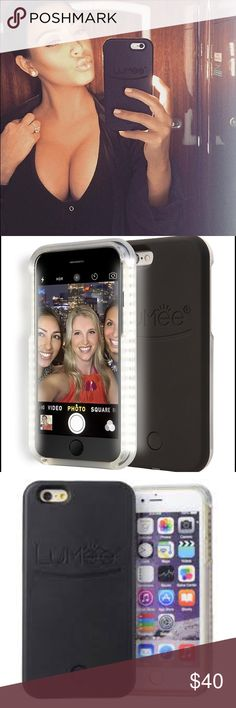 Lumee Selfie Light Phone Case! Like new Lumee Phone case, used just a few times! As used by Kim Kardashian Lumee Accessories Phone Cases