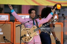 Prince performs live on ABC's 'Good Morning America' Summer Concert Series at Bryant Park in New York City, on June 16, 2006. Photos by GNA