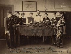 Dissecting the cadaver of a murderer, 1897.  A possibility is that he was an African American man named William Downing, who was hanged December 4, 1896 for the murder of Emma Lane.
