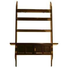 Rare Set of Anglo-Japanese Ebonised Hanging Book Shelves by E W Godwin | From a unique collection of antique and modern shelves at https://www.1stdibs.com/furniture/storage-case-pieces/shelves/