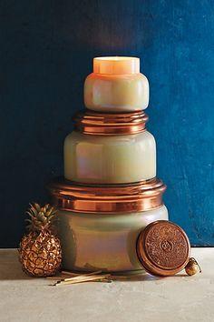 #Capri Blue Iridescent Jar #Candle #Anthropologie