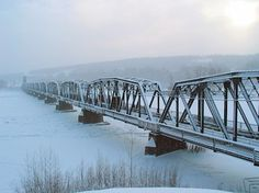 Prince George - the old railway bridge over the Fraser