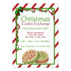 Christmas Cookie Party Invitations