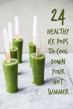 24 Guilt-Free Ice Pops That Will Make You Go Ahhhh-- None of these pops contain refined sugar or processed flavored yogurts