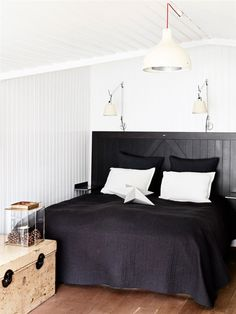 A black wooden house in Denmark