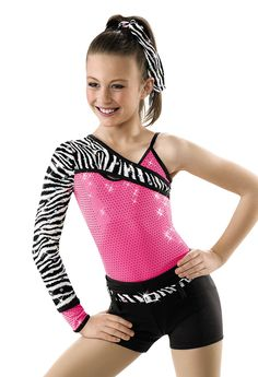 Asymmetrical Zebra Sequin Leo; Weissman Costumes(hey bitty)