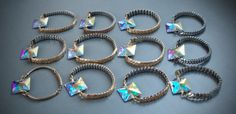 Beautiful Kaleidoscope Bracelets with Swarovski crystals designed by www.facebook.com/UrracaVintageJewellery