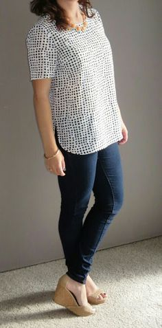Daniel Rainn Bellaire Crew Neck Blouse | 1/5/16 Anything But Boring: Stitch Fix 12 review: New for 2016 video, try on and pins. | Ultimately decided to send back :(