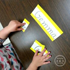 Preschool Literacy: Learning Letters in Our Names - Teaching 2 and 3 Year Olds Preschool First Week, Preschool Names, Preschool Literacy, Early Literacy, Preschool Ideas, Morning Activities, Literacy Activities, Preschool Name Recognition, Name Puzzle