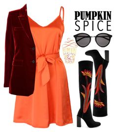 """""""Pumpkin"""" by menke-mode ❤ liked on Polyvore featuring WithChic, Yves Saint Laurent and Jeffrey Campbell"""
