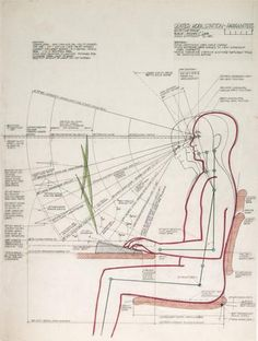 By drawing complex diagrams of our bodies, the designer Niels Diffrient transforms constraints into sources of creativity. Metropolis Magazine, Human Dimension, Kunst Poster, Workbench Plans, Design Seeds, Technical Drawing, Data Visualization, Design Reference, Chair Design