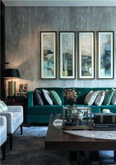 Blaues Und Grünes Wohnzimmer