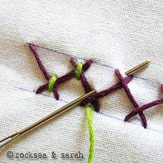 tacked herringbone stitch: fig 1