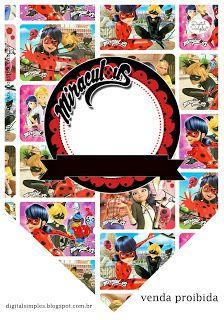 "Kit Digital Festa Gibi ""Miraculous Ladybug"" - Convites Digitais Simples"