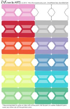 Blank Tab Stickers  Tabs for Notebooks Planners by ELouiseArts