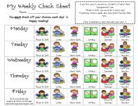 Great Daily Five student checklist and great post on how The Daily Five is used in a second grade classroom!