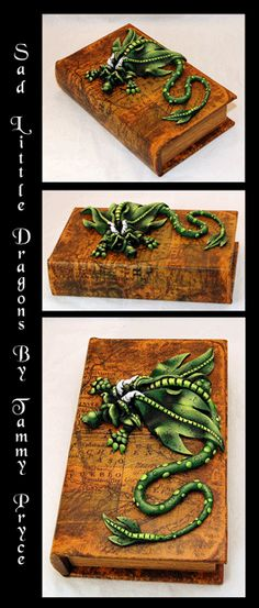 Sad Little Dragons By: Tammy Pryce on Etsy $60 #dragon #polymerclay #sculpture