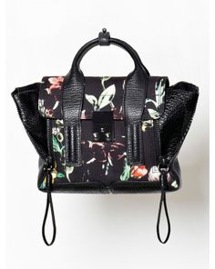 3.1 Philip Lim Faded Botanical Pashli Mini Satchel