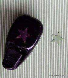 Large Star Punch by Stampin Up whale style