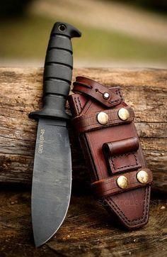 Ontario Spec Plus Gen II SP46 Survival Fixed Knife Blade (Black)