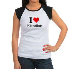 I Love Klaroline T-Shirt $21.99 Klaus and Caroline would make a great couple and become Klaroline. #TheVampireDairies #Klaus #Caroline #Virginia #MysticFalls #TheCouchPotato