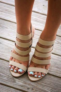 Lilo Beach Nude Strappy Heels