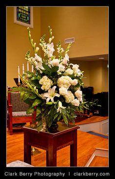 Altar arrangement by Weddings by Jennifer, via Flickr