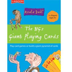 The BFG is a classic story which boys age 6 will love especially with these cool Big Playing Cards. A great gift for all to play with.