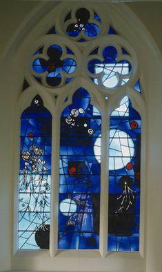 West window, depicting Heaven, designed by John Piper, made by Patrick Reyntiens, 1968, St Paul
