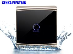 New arrival smart touch wall switch mirror face panel single control 1 way touch induction switch