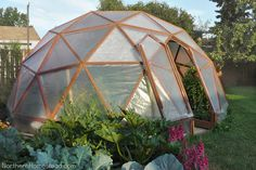 12 Great DIY Greenhouse Projects • Lots of Ideas and Tutorials! Including this geodome greenhouse from 'northern homestead'.