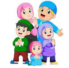 Illustration about Illustration of A group of muslim family are celebrating ied mubarak together. Illustration of islam, illustration, apologize - 144708237 Eid Mubarak Stickers, Eid Mubarak Vector, Eid Card Designs, Kids Routine Chart, Ied Mubarak, Sarra Art, Sheep Vector, Eid Crafts, Islamic Cartoon