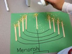 This is a great way to make a menorah.  My students love the glitter! See more on http://www.soltrainlearning.blogspot.com