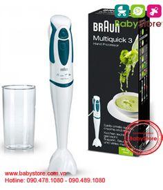 Máy xay cầm tay Braun MR400 450watt (MR 300 Soup)  Mã sản phẩm: TP0255  899,000 VND   http://babystore.com.vn/may-xay-cam-tay-braun-mr400-450watt-mr-300-soup-p1520.aspx  + Máy xay Braun cầm tay sx tại Balan, dành cho bạn chế biến các món bột, cháo, hoa quả cho bé, sạch sẽ thuận tiện & an toàn.  + Máy công suất 450 watt, điện 220v, với 2 tốt độ nhanh chậm để bạn có thể xay cháo ở chế độ nhuyễn như bột hoặc lổn nhổn phù hợp với từng giai đoạn phát triển    + Máy gồm phần củ xay, bộ lưỡi xay