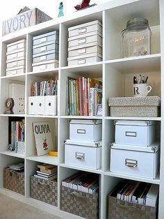 ikea bookshelf - need to do this in the great room ... for all of the toys ... all stored in the baskets ... several colors to choose from too