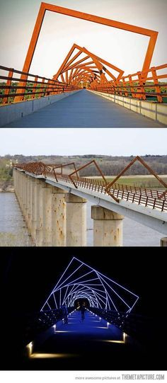 High Trestle Trail Bridge...this is fantastic and simple and the effect is...just, well, wow...where is it?