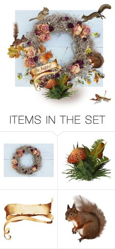 """""""A Fall Wreath"""" by canisartstudio ❤ liked on Polyvore featuring art"""